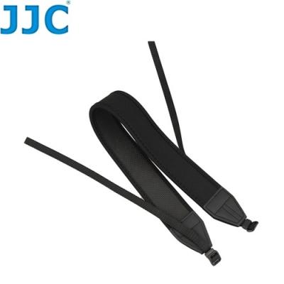 JJC單反單眼相機背帶DSLR相機減壓背帶彈性防滑揹帶NS-N(黑色/無字樣/寬版,寬約42mm,厚近6.5mm)