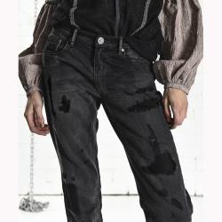 ONETEASPOON  AWESOME BAGGIES 黑 刷色男友褲