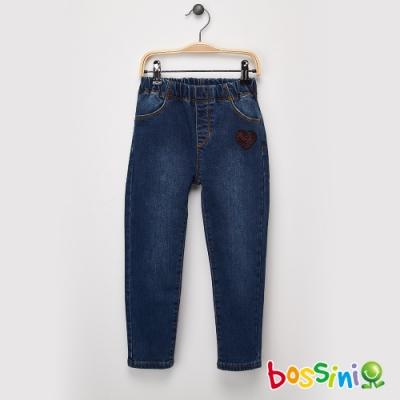 bossini女童-丹寧合身牛仔褲牛仔藍