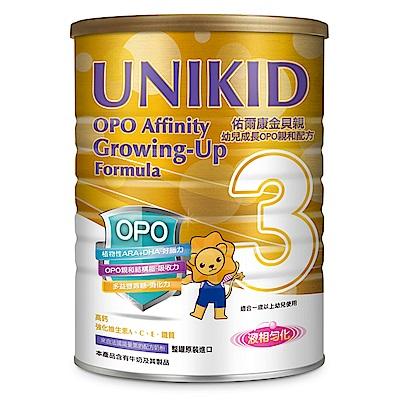 UNIKID 佑爾康金貝親 幼兒成長OPO親和配方900g(6入)送1罐