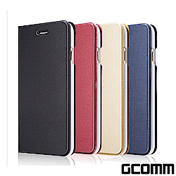 GCOMM iPhone 8+/7+ 金屬質感拉絲紋超纖皮套