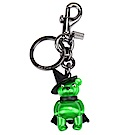 COACH 可愛3D立體 Wicked Witch Bear 熊熊金屬鑰匙圈-螢光綠色