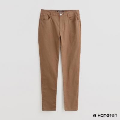 Hang Ten - 男裝 - 雙口袋素面休閒長褲 - 咖啡