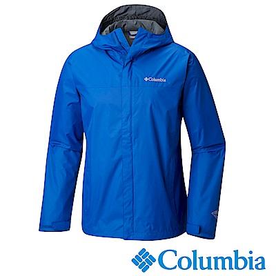 Columbia哥倫比亞 男款-Omni-Tech防水外套-藍色URE24330BL