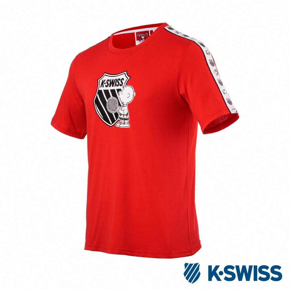 K-SWISS Tape T-Shirt SNOOPY聯名短袖T恤-男女-紅