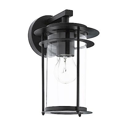 EGLO歐風燈飾 美型黑玻璃圓燈框式壁燈(不含燈泡)