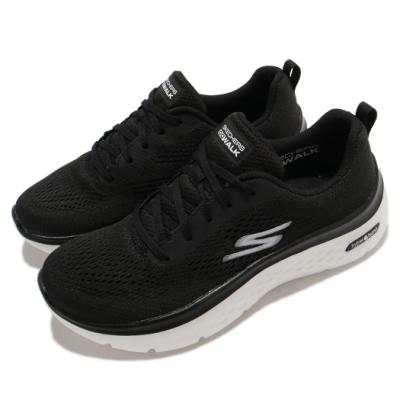 Skechers 休閒鞋 Go Walk Hyper Burst 女鞋 健走鞋 輕量 避震 緩衝 回彈 黑 白 124578BKW