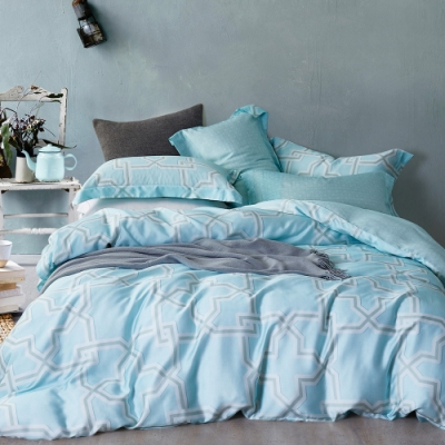 Ania Casa 相約地中海 天絲 100% TENCEL 加大鋪棉兩用被套床包四件組