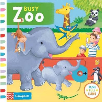 Busy Zoo 忙碌的動物園硬頁操作拉拉書