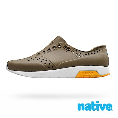 native LENNOX 男/女鞋-沉穩綠x貝殼白x蠟筆黃