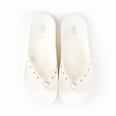 HELLO KITTY艾樂跑女鞋-防水夾腳拖鞋-白/粉/黑(918333)