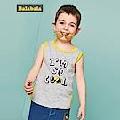 Balabala巴拉巴拉-小酷cool寶貝滾邊造型背心-男(灰色)