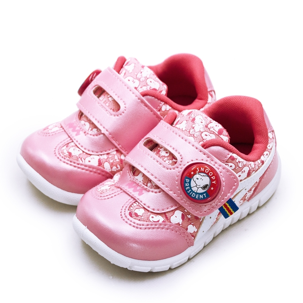 SNOOPY 史努比 兒童電燈運動鞋 粉紅 95113