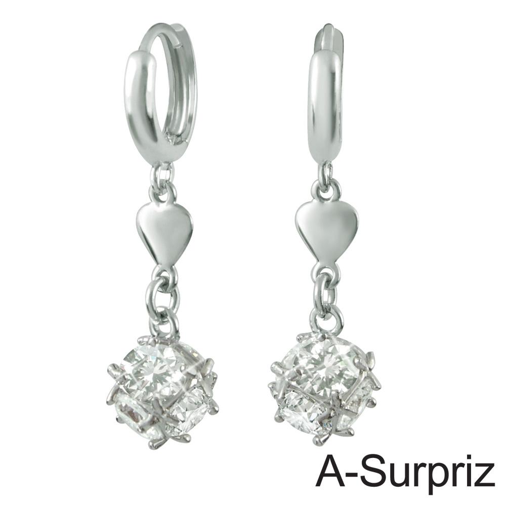 A-Surpriz 幸運晶球鋯石耳環