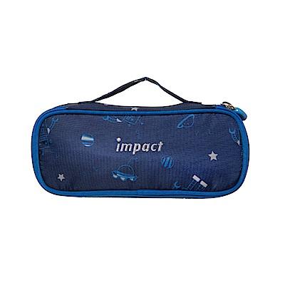 【IMPACT】機器人筆袋-深藍色 IM00L07NY