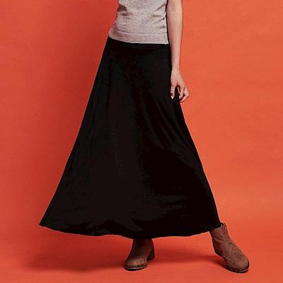 CACO-舒適基本棉質圓裙-女【RSH013】