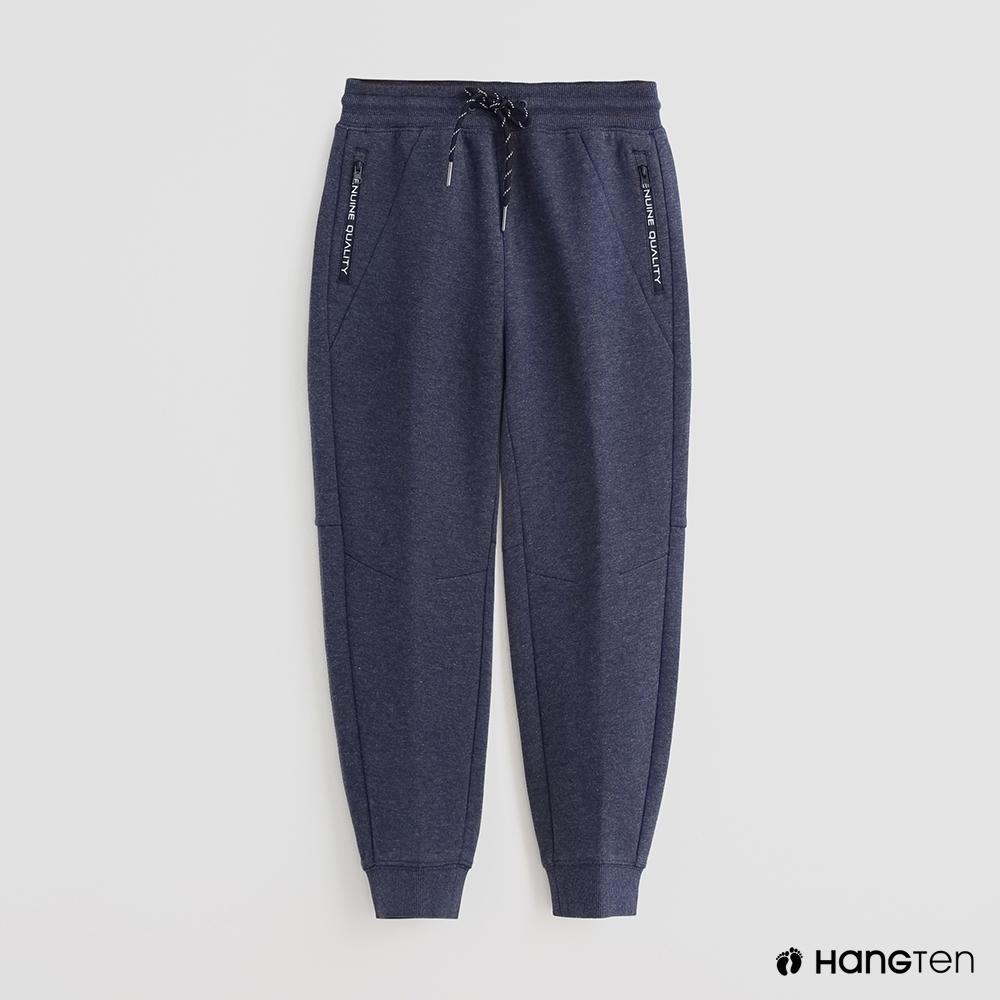 Hang Ten -童裝 - 腰部鬆緊綁帶運動長褲 - 藍