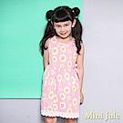 Mini Jule  洋裝  花朵印花蝴蝶結無袖洋裝(粉)