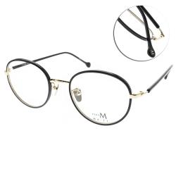 MA-JI MASATOMO 眼鏡  復古質感圓框款/黑-金#PMJ048 C01
