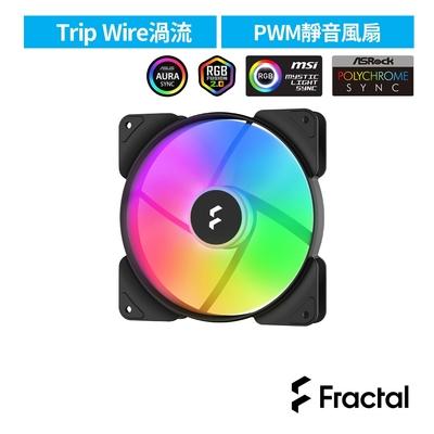 【Fractal Design】Aspect RGB 14cm PWM 散熱風扇-黑