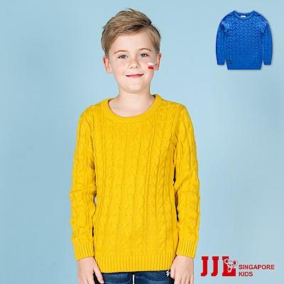 (宅配)JJLKIDS 簡約復古保暖麻花粗針織毛衣(2色)