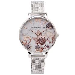 OLIVIA BURTON  百花與大理石紋錶帶手錶-花朵面/38mm
