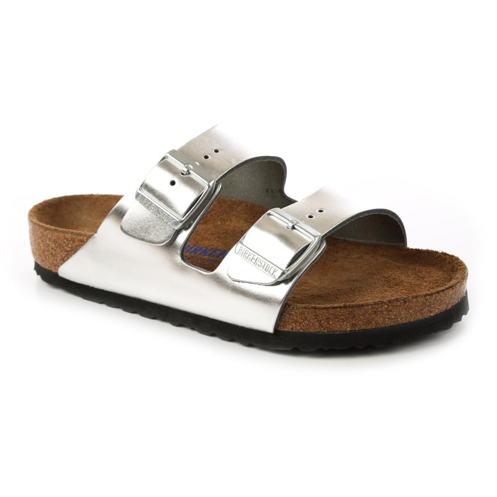 勃肯BIRKENSTOCK752711亞利桑那 經典二條拖鞋(霧銀)