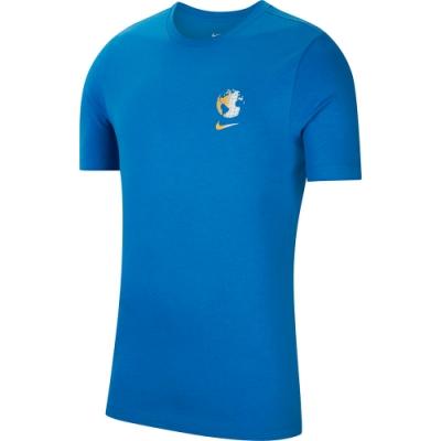 NIKE 短袖上衣 休閒 慢跑 運動 男款 藍 CW5836435 AS M NSW WORLDWIDE GLOBE SSTEE