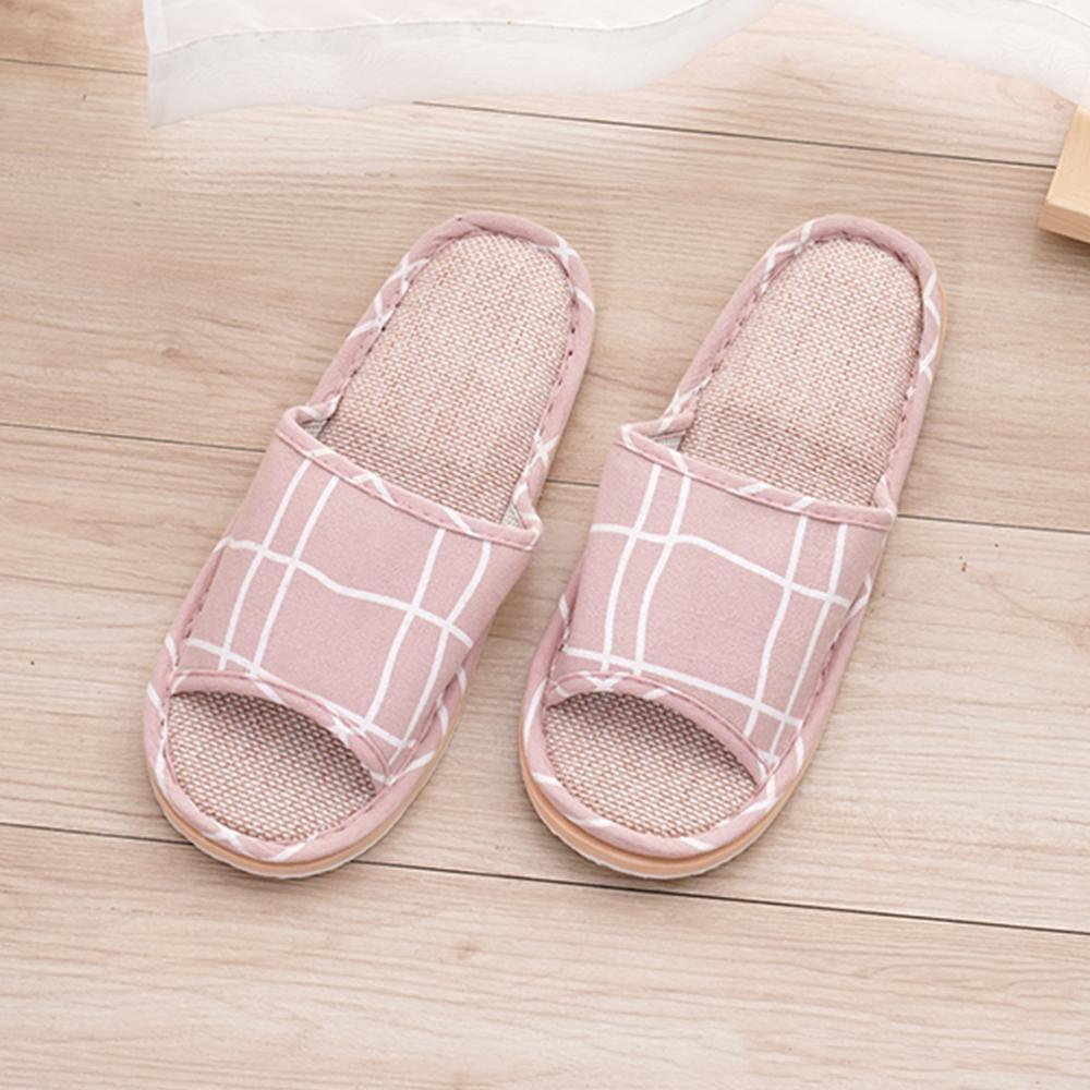 333家居鞋館 法式微糖室內蓆拖鞋-粉色