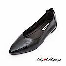 Lilylollipop 超軟金屬炫光平底鞋--黑色