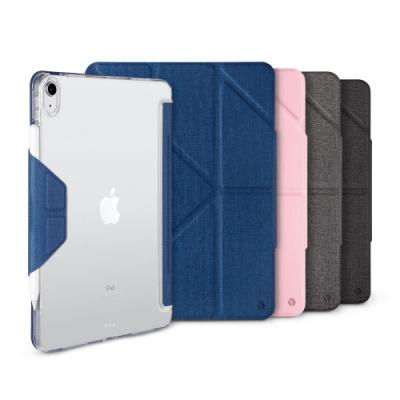 JTL iPad Pro 2020 Amos 10.9吋 相機快取多角度折疊布紋皮套(磁扣版-無筆槽)