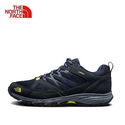 The North Face北面男款藍色抓地防水徒步鞋