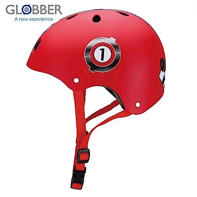 GLOBBER哥輪步 兒童戶外活動防護安全帽-賽車紅