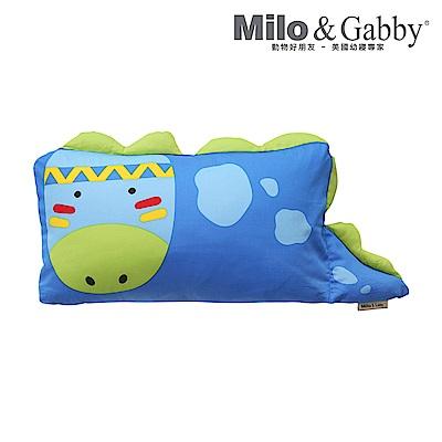 Milo & Gabby 動物好朋友 mini枕頭套(DYLAN印第安恐龍)