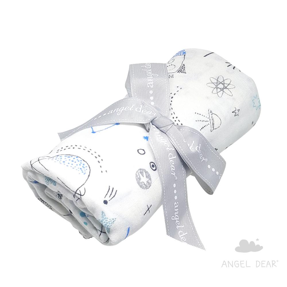 美國 Angel Dear 竹纖維嬰幼兒包巾禮盒 (太空世界)