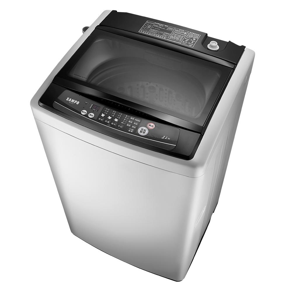 [福利品] SAMPO聲寶 11公斤 定頻直立式洗衣機 ES-H11F(G3)