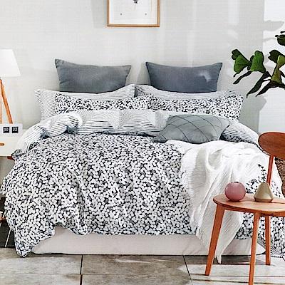 Grace Life 在水一方 台灣精製 單人精梳純棉床包兩件組~床圍高度35公分