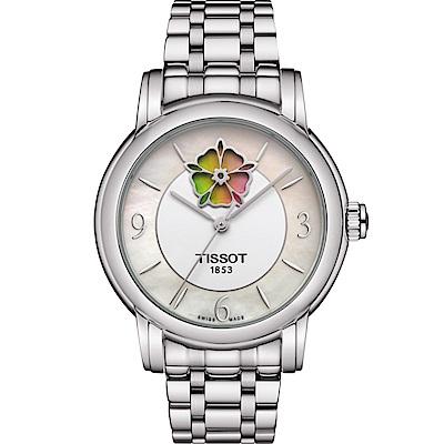 TISSOT天梭LADY HEART FLOWER機械腕錶 T0502071111705