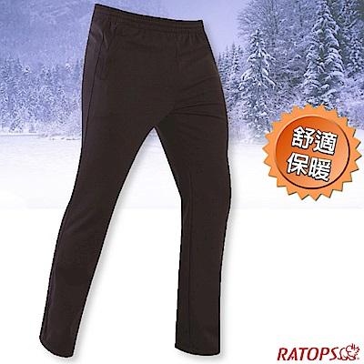 瑞多仕-RATOPS 中性款 刷毛保暖長褲(素色拉鍊)_DB6022 墨藍色