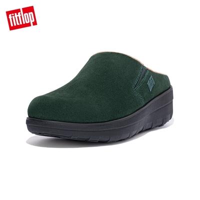 【FitFlop】LOAFF SUEDE CLOG 易穿脫舒適休閒鞋-女(森林綠)