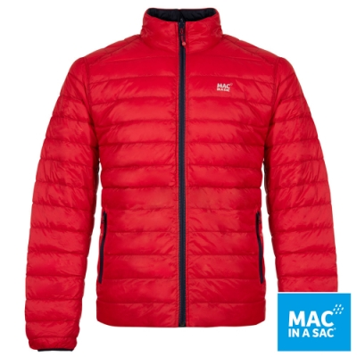 【MAC IN A SAC】男款輕暖袋著走雙面羽絨外套MNS111紅深藍/極輕量易攜帶
