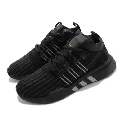 adidas 休閒鞋 EQT Support Mid ADV 男鞋 海外限定 愛迪達 襪套式 反光 球鞋穿搭 黑 銀 B37456