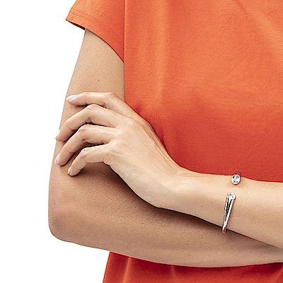 CALVIN KLEIN Brilliant 系列閃耀晶鑽白鋼手環-XS