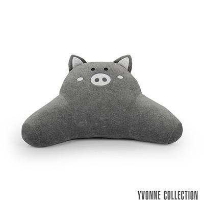 Yvonne Collection 豬豬背部靠墊-暗灰