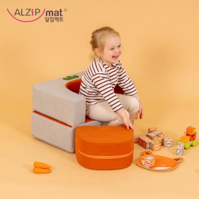 【ALZiPmat】韓國蔬菜水果小沙發 / 寶貝專屬沙發 - 胡蘿蔔