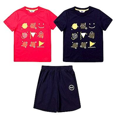 [時時樂] FILA KIDS 童裝上衣/運動短褲(任選)(尺寸135-165cm)