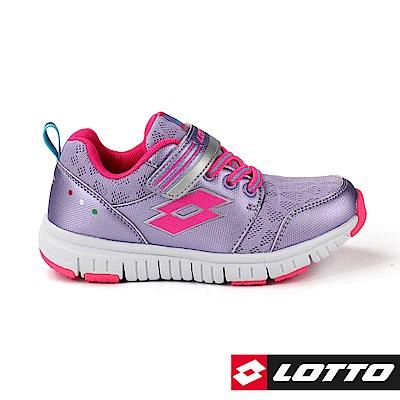 LOTTO 義大利 童 SPACERUN 太空漫步輕量跑鞋 (紫)