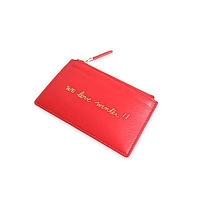 agnes b. Voyage 卡片零錢包 (紅)