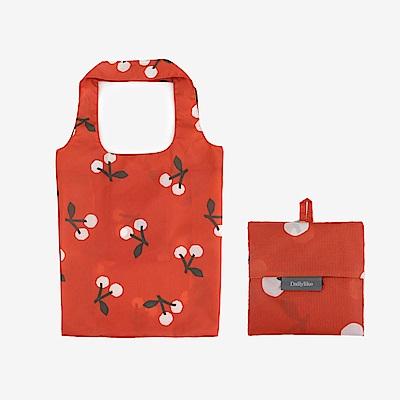 Dailylike 摺疊購物袋單肩包L-04櫻桃紅