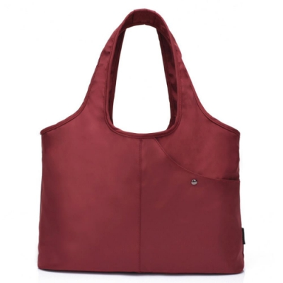I.Dear-休閒男女大容量牛津布斜紋可水洗百搭購物肩背包(BG76紅色)